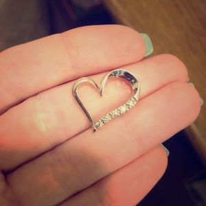 Diamond Heart charm for necklace